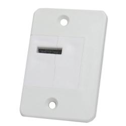 DiHa ESM Verschlussdeckel-Gurtführung gerade o. 90° gedreht, bis 15 mm Gurt (Mini), weiß