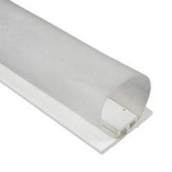 DichtungsSpecht Rollladendichtung HS1/30, weiß, Länge 200 cm, selbstklebend, für Spaltbreiten 21-30 mm