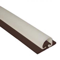 DichtungsSpecht Rollladendichtung HS1/10, braun, Länge 200 cm, selbstklebend, für Spaltbreiten 11-16 mm