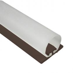 DichtungsSpecht Rollladendichtung HS1/20, braun, Länge 200 cm, selbstklebend, für Spaltbreiten 14-23 mm