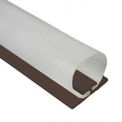 DichtungsSpecht Rollladendichtung HS1/30, braun, Länge 200 cm, selbstklebend, für Spaltbreiten 21-30 mm