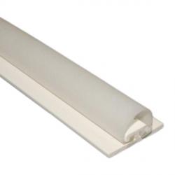 DichtungsSpecht Rollladendichtung HS1/10, weiß, Länge 100 cm, selbstklebend, für Spaltbreiten 11-16 mm