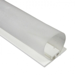 DichtungsSpecht Rollladendichtung HS1/30, weiß, Länge 100 cm, selbstklebend, für Spaltbreiten 21-30 mm