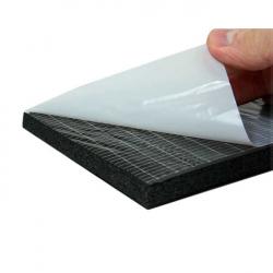 enobi Dämmmatte, Isoliermatte, Schalldämmung, selbstklebend, 19 mm Stärke, 100 cm Breit auf Maß