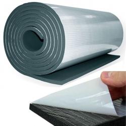 enobi Dämmmatte, Isoliermatte, Schalldämmung, selbstklebend, 10 mm Stärke, 100 x 1000 cm