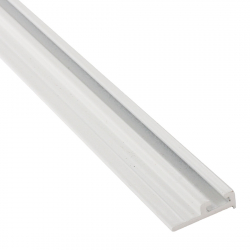 enobi Halteprofil aus Aluminium für Bürstendichtung mit 4,8 mm Fußbreite, weiß ; Befestigungsprofil 90°, Dichtungsprofil