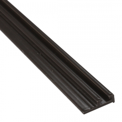 enobi Halteprofil aus Aluminium für Bürstendichtung mit 4,8 mm Fußbreite, dunkelbraun ; Befestigungsprofil 90°, Dichtungsprofil