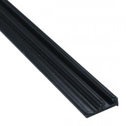enobi Halteprofil aus Aluminium für Bürstendichtung mit 4,8 mm Fußbreite, anthrazit-grau ; Befestigungsprofil 90°, Dichtungsprofil