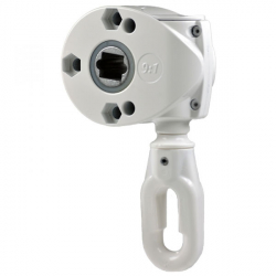 Geiger Schneckengetriebe 418F5 9:1 (Markisengetriebe), Ösenlänge 41 mm, reinweiß