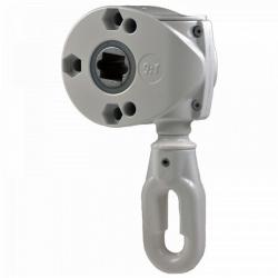 Geiger Schneckengetriebe 418F5 9:1 (Markisengetriebe), Ösenlänge 41 mm, grau