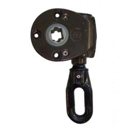 Geiger Schneckengetriebe 418F5 9:1 (Markisengetriebe), Ösenlänge 41 mm, braun