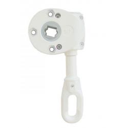 Geiger Schneckengetriebe 418F5 9:1 (Markisengetriebe), Ösenlänge 68 mm, weiß