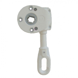 Geiger Schneckengetriebe 418F5 9:1 (Markisengetriebe), Ösenlänge 68 mm, grau