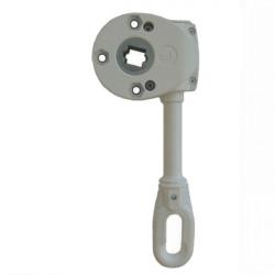 Geiger Schneckengetriebe 418F5 9:1 (Markisengetriebe), Ösenlänge 98 mm, grau