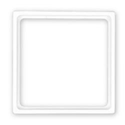 Merten Din-Zwischenrahmen 50 x 50 mm für System M / M-Plan / M-Smart / M-Arc / M-Star / M1-M, polarweiß edelmatt