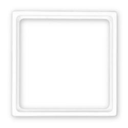 Merten Din-Zwischenrahmen 50 x 50 mm für System M / M-Plan / M-Smart / M-Arc / M-Star / M1-M, polarweiß glänzend