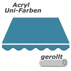 enobi Markisentuch aus Acryl auf Maß gefertigt, Uni-Farben (einfarbig) Markisenstoff - gerollt