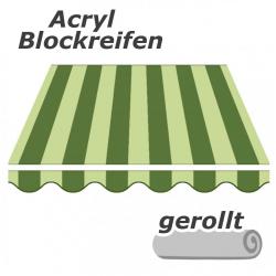 enobi Markisentuch aus Acryl auf Maß gefertigt, Blockstreifen (Markisenstoff) - gerollt