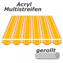 enobi Markisentuch aus Acryl auf Maß gefertigt, Multistreifen (Markisenstoff) - gerollt