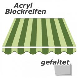 enobi Markisentuch aus Acryl auf Maß gefertigt, Blockstreifen (Markisenstoff) - gefaltet