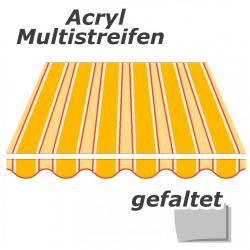 enobi Markisentuch aus Acryl auf Maß gefertigt, Multistreifen (Markisenstoff) - gefaltet