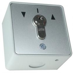 enobi Jalousie-Schlüsseltaster wassergeschützt für Din-Profilhalbzylinder, aufputz