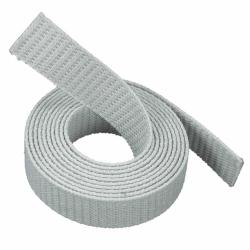 Stahl Extra Dünnes (1,2 mm) Getriebe-Rollladengurt E23, 23 mm Breite, Meterware, grau