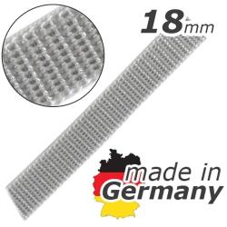 Stahl Rollladengurt 18 mm Breite (21/18 - für Fertighäuser), Meterware, grau