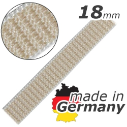 Stahl Rollladengurt 18 mm Breite (21/18 - für Fertighäuser), Meterware, beige