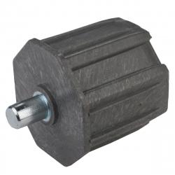 enobi Walzenkapsel mit Achsstift Ø 12 mm für Stahlwelle SW 60, ohne Kranz