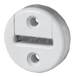 Selve Gurtführung aus Kunststoff, rund, mit Bürsteneinsatz, bis 23 mm Gurt, weiß