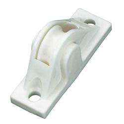 Selve Mini-Schnurführung aus Kunststoff, bis Ø 5 mm Schnur, weiß