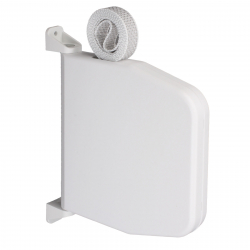 Selve Mini-Gurtwickler schwenkbar mit 5 m Gurt, aufklappbar, bis 15 mm Gurt, weiß