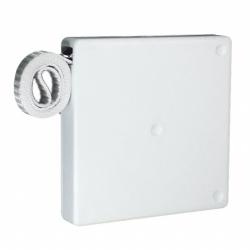 Selve Mini-Gurtwickler mit 5 m Gurt, aufschraubbar, für 15 mm Gurt, weiß