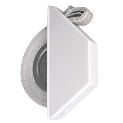 Selve Mini-Halbeinlass-Gurtwickler mit 5 m Gurt, für 15 mm Gurt, weiß
