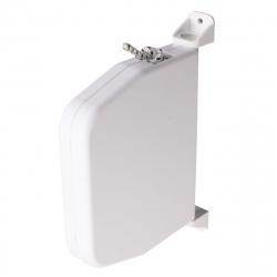 Selve Mini-Schnurwickler mit 5 m Schnur, aufklappbar und schwenkbar, weiß