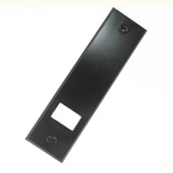 Selve Abdeckplatte für Gurtwickler aus Kunststoff, Lochabstand 104 mm, braun
