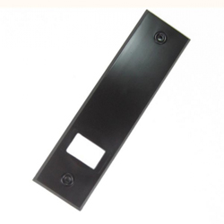 Selve Abdeckplatte für Gurtwickler aus Kunststoff, Lochabstand 186 mm, braun