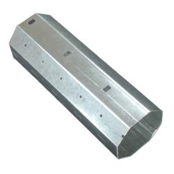 - Stahlwelle SW 60, 8-Kant Ø 60 mm, verzinkt, 0,6 mm Wandung