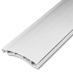 - Kunststoff-Rollladenstab Mini MK38, 8 x 38 mm, ohne Lichtschlitzen, weiß