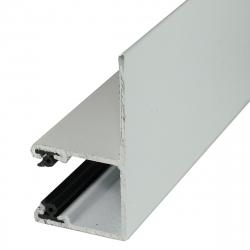 Mini-Führungsschiene LF aus Aluminium, mit 28 mm Schenkel, grau