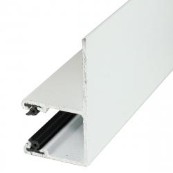 Mini-Führungsschiene LF aus Aluminium, mit 28 mm Schenkel, weiß