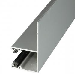 Mini-Führungsschiene LF aus Aluminium, mit 28 mm Schenkel, naturell