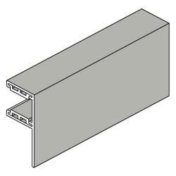 Heroal Führungsschiene L-SF aus Aluminium, mit 30 mm Schenkel, grau