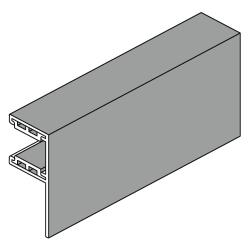 Heroal Führungsschiene L-SF aus Aluminium, mit 30 mm Schenkel, naturell