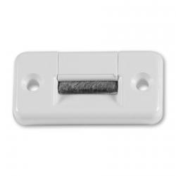 Selve Gurtführung 60 x 30 mm aus Kunststoff, quer, mit Bürsteneinsatz, bis 23 mm Gurt, weiß