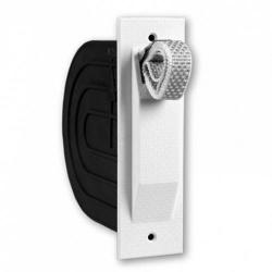 Selve Mini-Einlaß-Gurtwickler mit 5 m Gurt und Mauerkasten, für 15 mm Gurt, Haube weiß