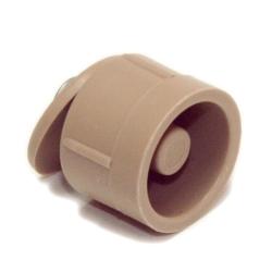 Selve Anschlagstopfen, Länge 15 mm, beige