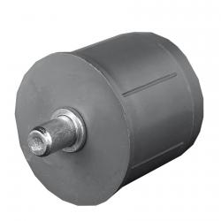 Selve Mini-Walzenkapsel mit Achsstift Ø 10 mm für Rundrohr Ø 50 x 1,5 mm