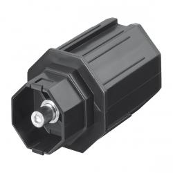 Selve Mini-Walzenkapsel mit Achsstift Ø 10 mm für Stahlwelle SW 60, lang